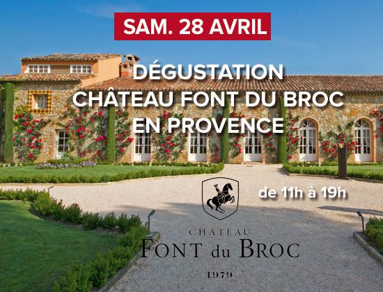 Dégustation Château Font du Broc