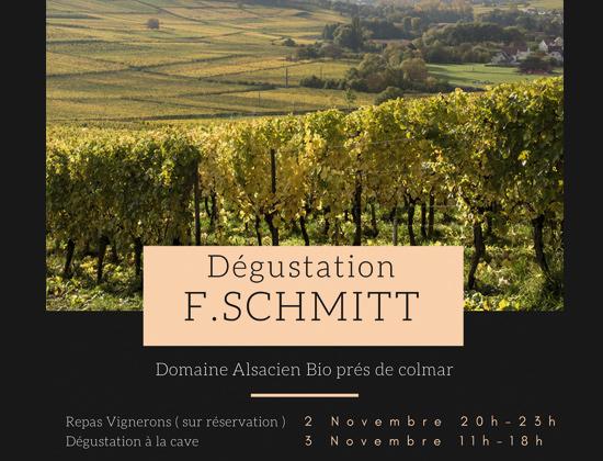 Repas dégustation François Schmidt