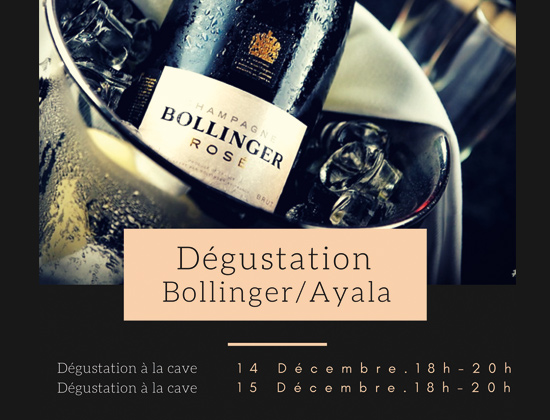 Dégustation Champagne Ayala- Bollinger